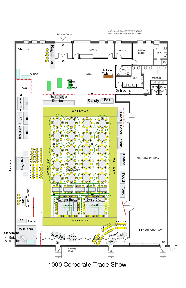 York Mills Gallery - Corporate Events Floor Plan