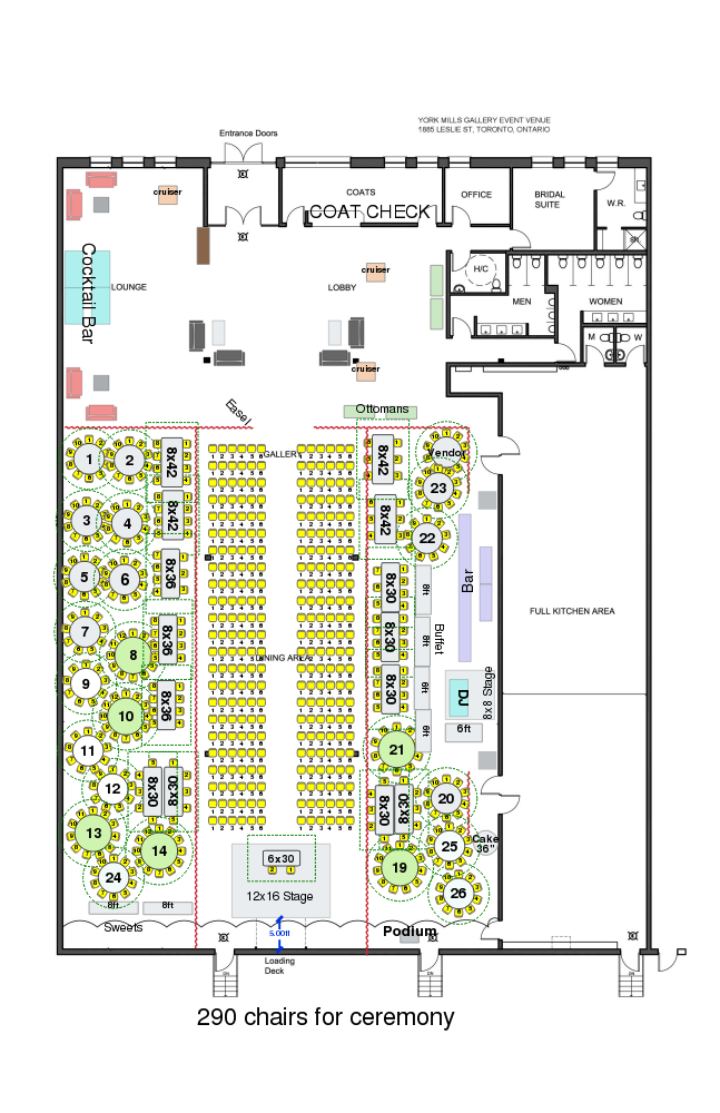 York Mills Gallery - Ceremony Floor Plan